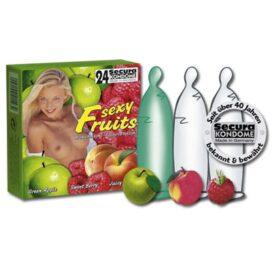 afbeelding 3 condooms met fruit smaak