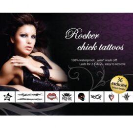 afbeelding tattoo set - rocker chick