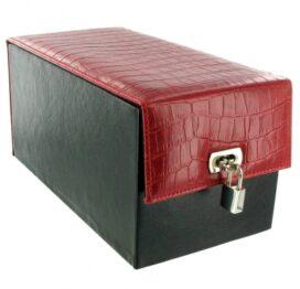 afbeelding devine toy box zwart / rood croco