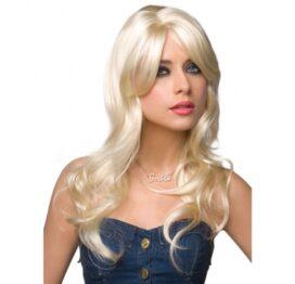 afbeelding jessie pruik - platina blond