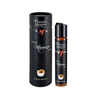 afbeelding plaisirs secrets - massage olie creme brulee