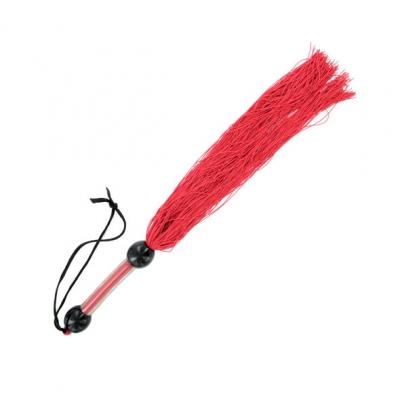 afbeelding s / m - medium rubberen zweep rood
