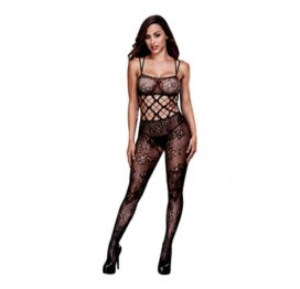 afbeelding baci - racerback crotchless lace bodystocking one size