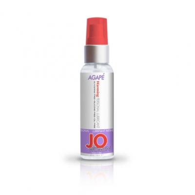 afbeelding system jo - vrouw agape glijmiddel warm 60ml.