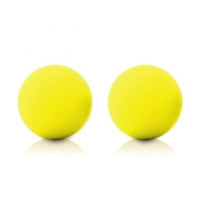 afbeelding maia toys - kegel ballen neon geel