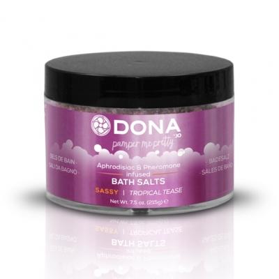 afbeelding dona - badzout tropical tease 225 ml