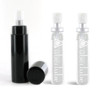 afbeelding uberlube - siliconen glijmiddel good-to-go zwart / refills