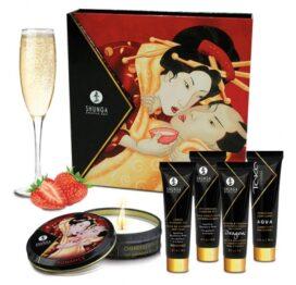 afbeelding shunga - geisha sparkling strawberry wine