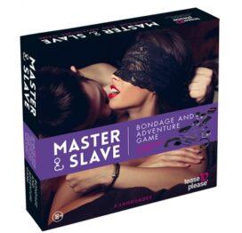 afbeelding master / slave bondage spel paars (nl-en-de-fr-es)