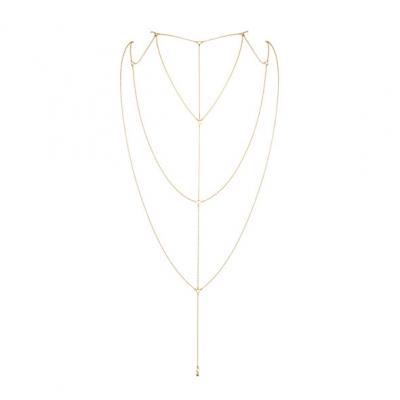 afbeelding bijoux indiscrets - magnifique rug / decollete ketting goud