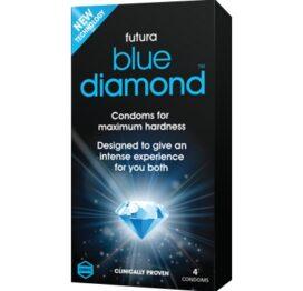 afbeelding blue diamond condooms 4st.