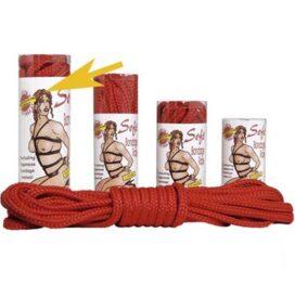 afbeelding bondage touw - rood 10m