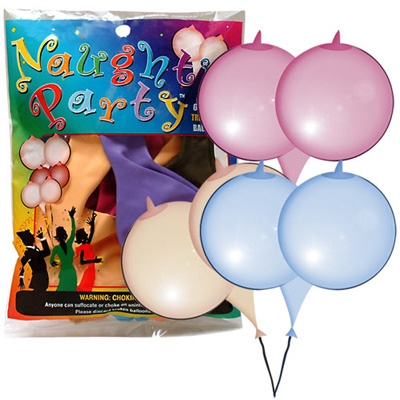 afbeelding borstvormige ballonnen 6st.