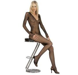afbeelding catsuit long sleeve v front - visnet