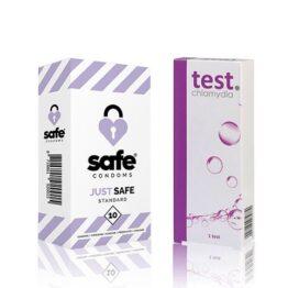 afbeelding Chlamydia Test en Just Safe Condooms (10st)