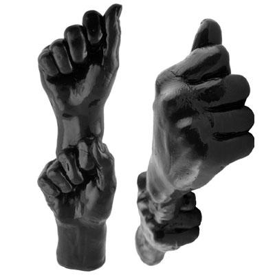 afbeelding dubbele vuist zwart