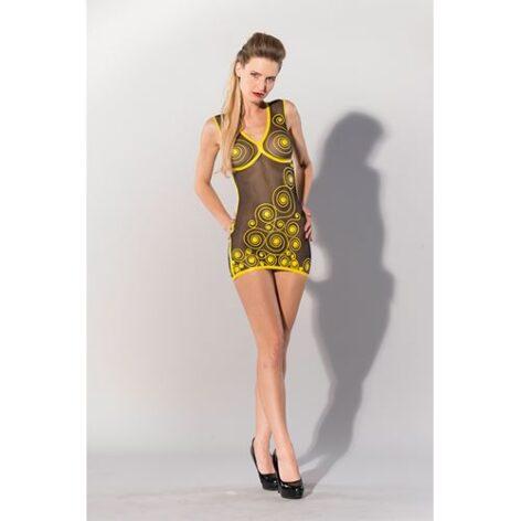 afbeelding Printed Datex jurkje gele krullen
