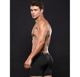 afbeelding Zwarte lowrise elastische boxer