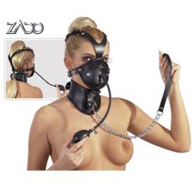 afbeelding lederen hoofd masker
