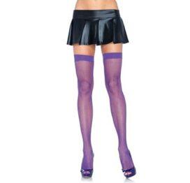 afbeelding leg avenue europe nylon fishnet thigh highs neon purple - one size
