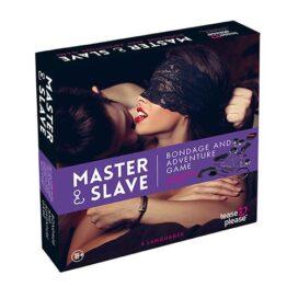 afbeelding Master & Slave BDSM Kit tijgerprint paars