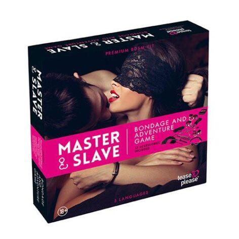 afbeelding Master & Slave BDSM Kit tijgerprint roze