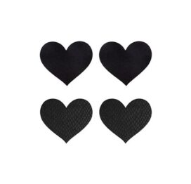 afbeelding Peekaboo 2 paar tepelstickers zwart hart