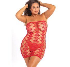afbeelding Strapless hartjes jurk