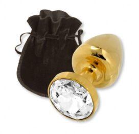 afbeelding rosebuds crystal gold anaal plug - normaal