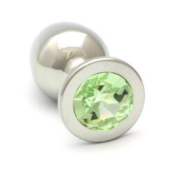 afbeelding rosebuds smaragd anaal plug - groot