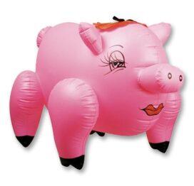 afbeelding roze opblaasbare feestvarken