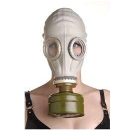 afbeelding rubberen gasmasker met filter
