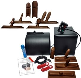 afbeelding sybian orgasme machine deluxe - chocolade