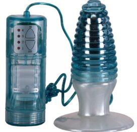 afbeelding vibrerende waterproof swirl anaal plug