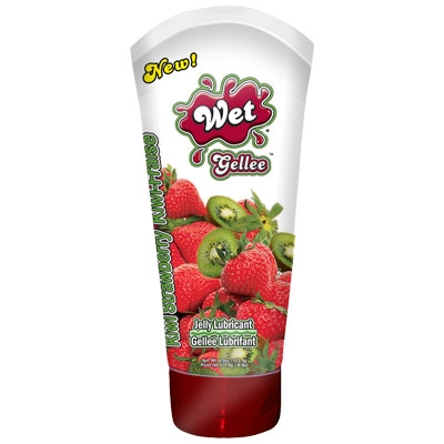 afbeelding wet kiwi aardbei jelly glijmiddel 170gr.